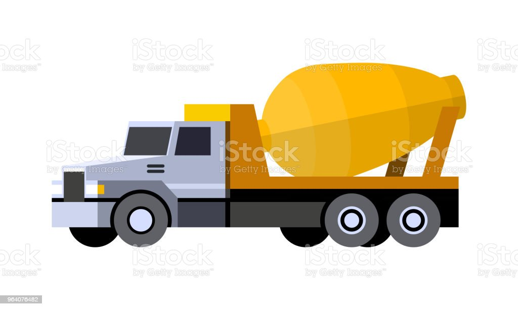 Cement mixer truck - Royalty-free Abstract stock vector
