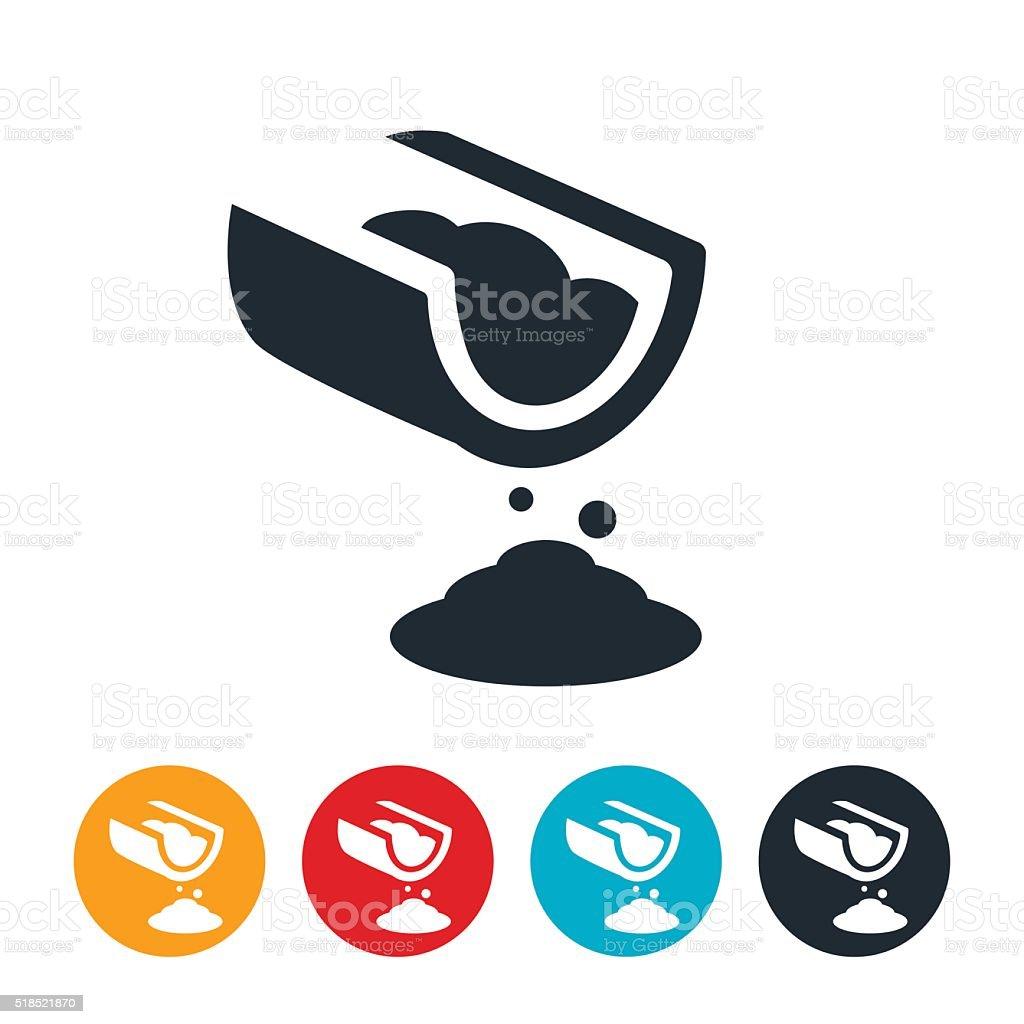 Cement Pour Icon vector art illustration
