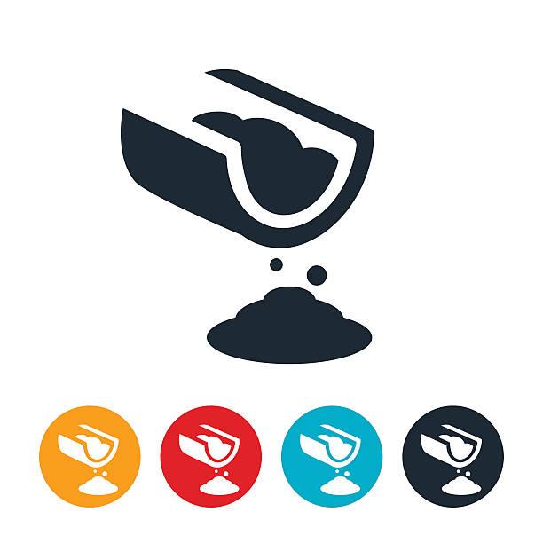 Zement Gießen Symbol – Vektorgrafik