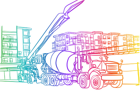 Cement Pouring Truck Rainbow