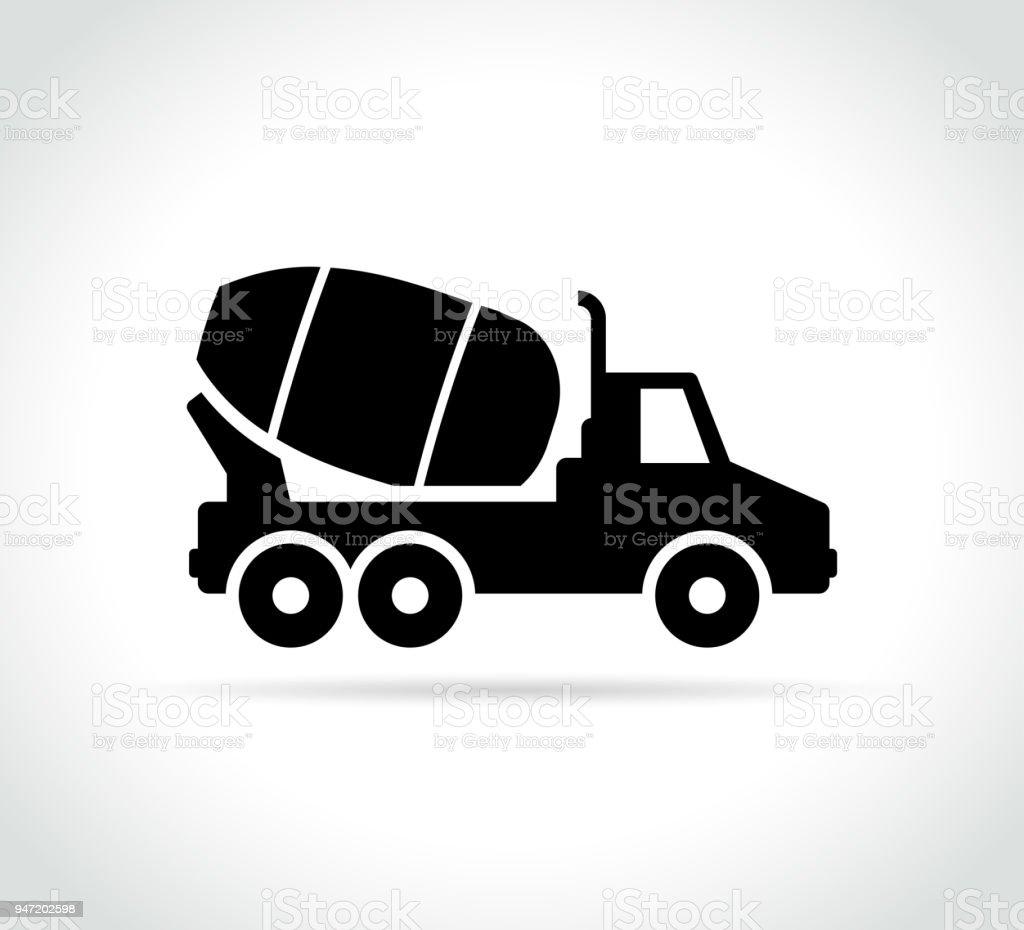 cement truck mixer vector icon vector art illustration