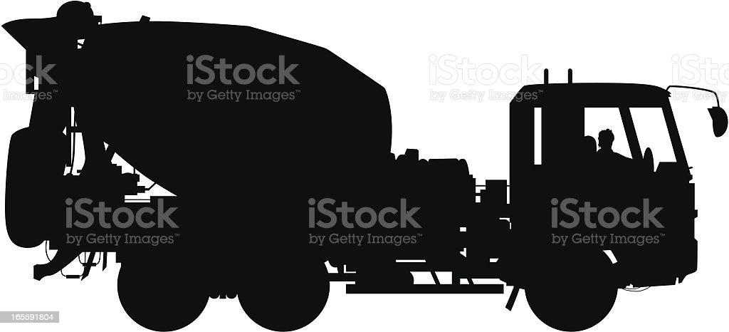 Cement Truck vector art illustration