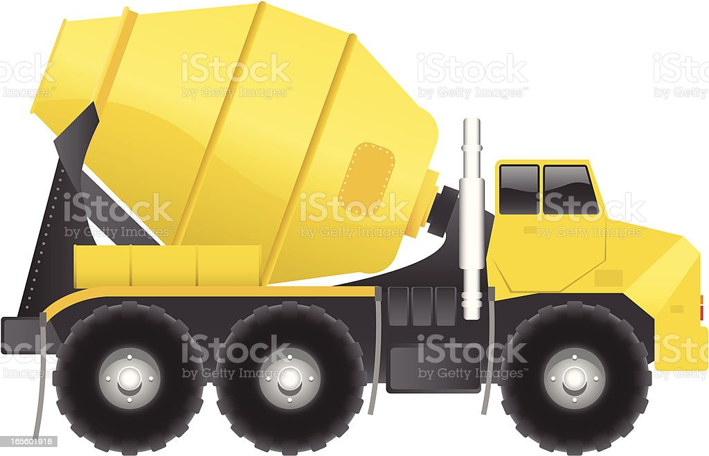 Cement Truck royalty-free stock vector art