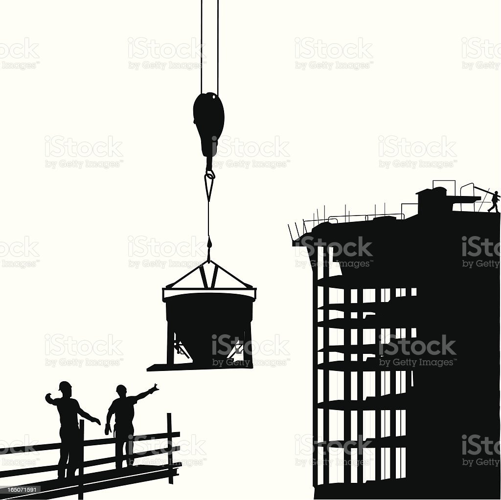 Cement Work Vector Silhouette royalty-free stock vector art