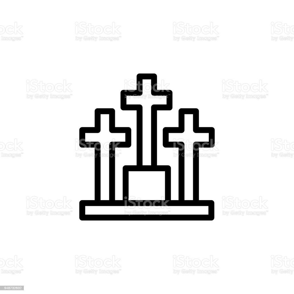 Friedhofsymbol Element Der Minimalistischen Icons Für Mobile Konzept ...