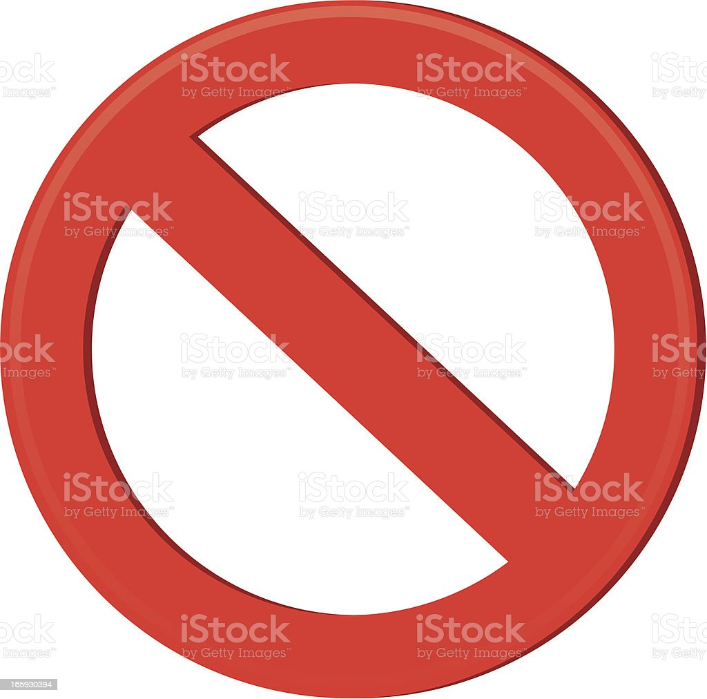 Censor Sign vector art illustration