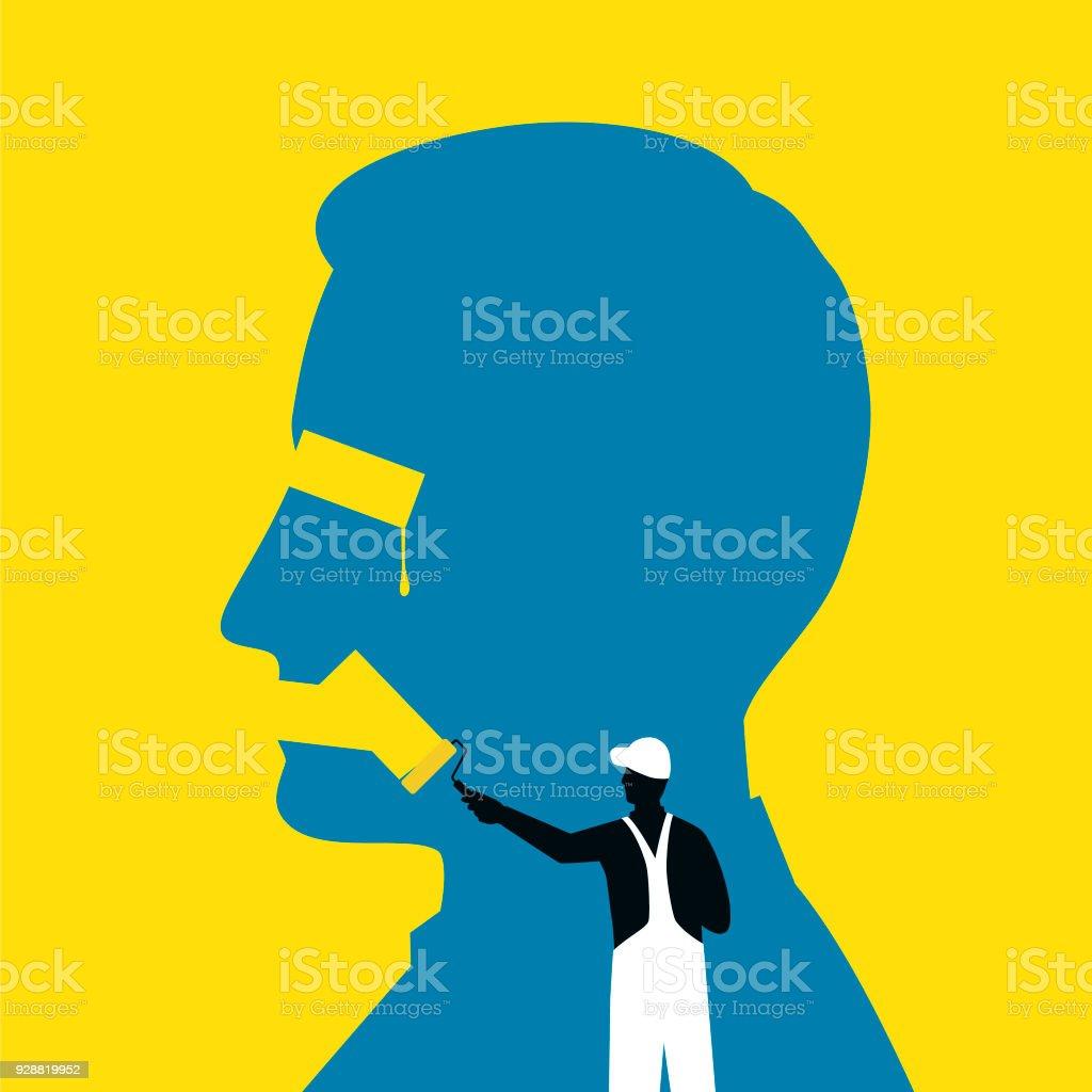 Censorship Illustration vector art illustration