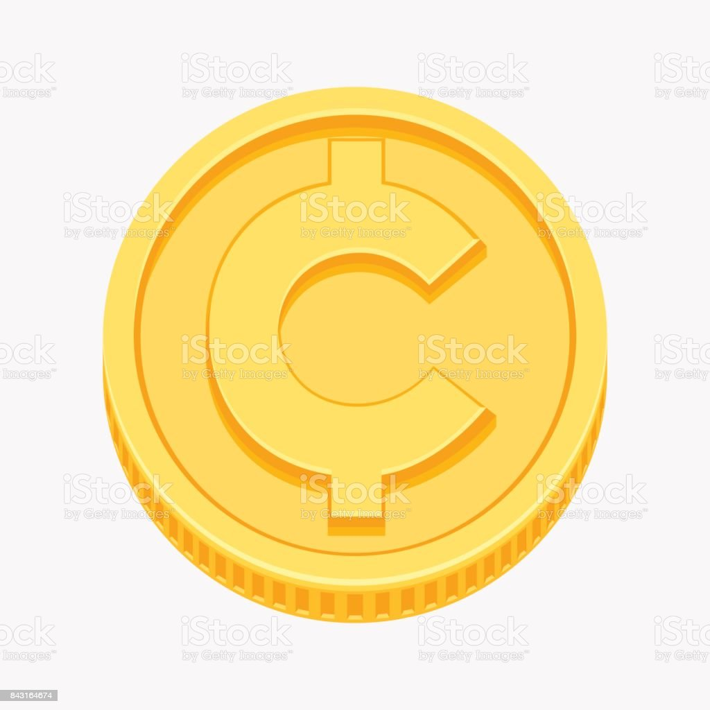 royalty free cent sign clip art vector images illustrations istock rh istockphoto com Clipartr of Dollar Coin Back Dollar Coin Coloring Page