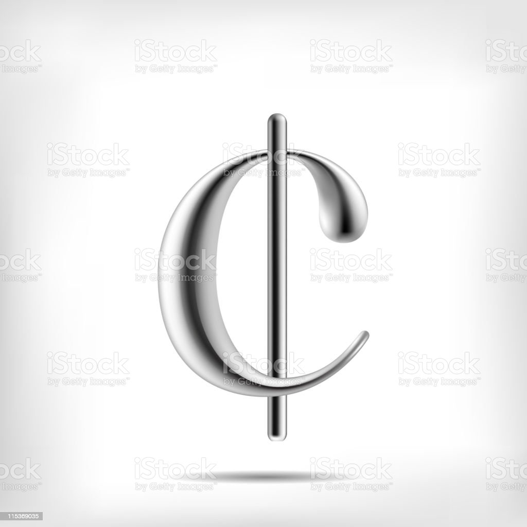 Cent sign royalty-free stock vector art