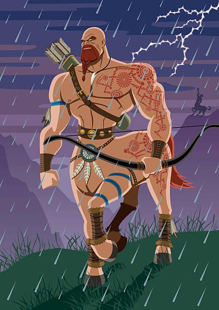 bildbanksillustrationer, clip art samt tecknat material och ikoner med centaur - centaurus