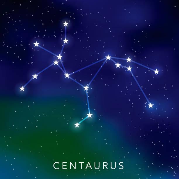 bildbanksillustrationer, clip art samt tecknat material och ikoner med centaurus stjärnbild - centaurus