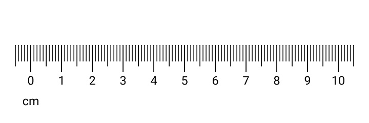 10 Centimeters Ruler Measurement Tool With Numbers Scale Vector Cm ...