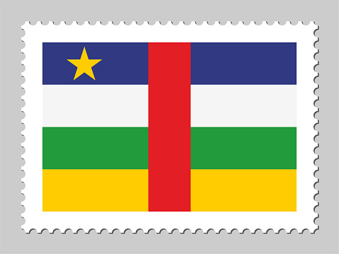 Central African Republic flag postage stamp