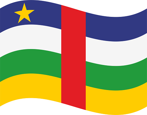 Central African Republic waving flag