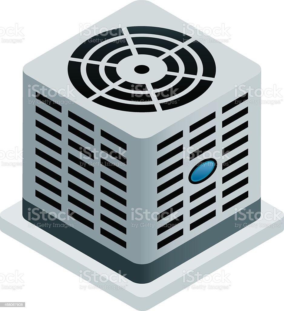 Central Air Conditioner vector art illustration