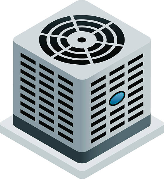 central air conditioner - pervane stock illustrations