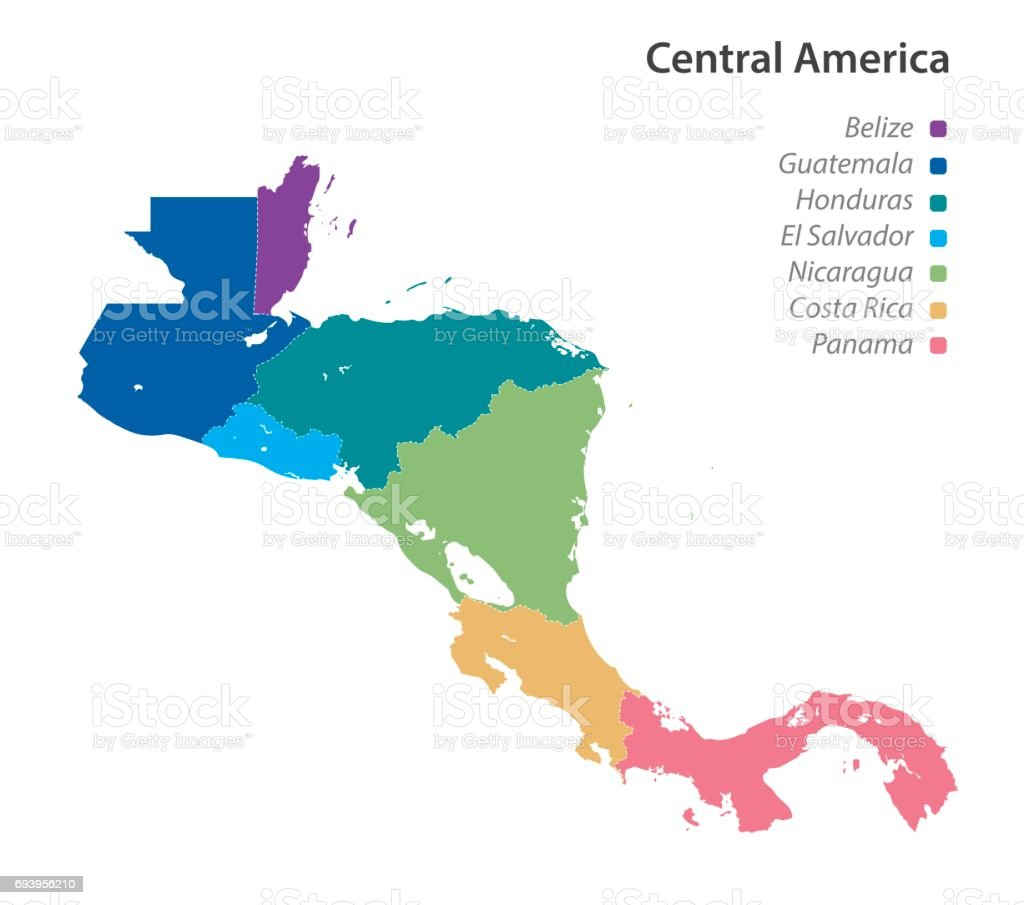 Central America Map Stock Illustration - Download Image Now ...