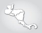 Central America Silhouette White