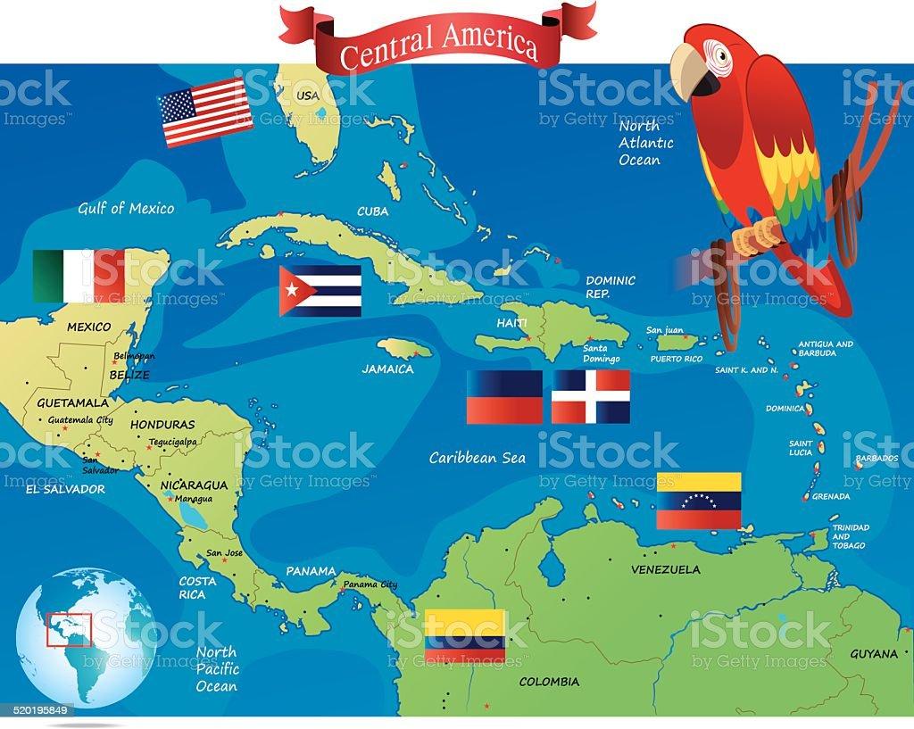 Central America vector art illustration