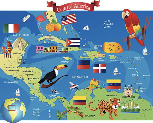 Central America – Vektorgrafik