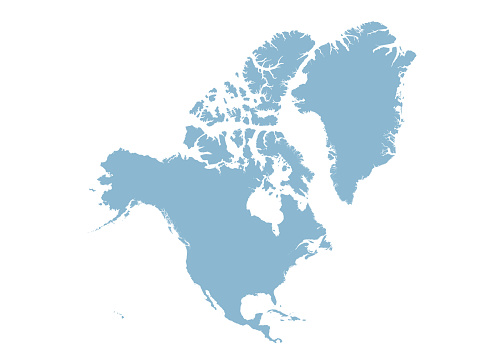 Central and North America map