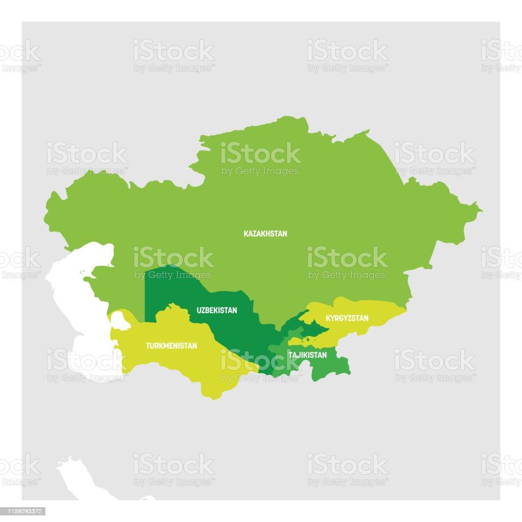 Région De Lasie Centrale Carte Des Pays De La Partie