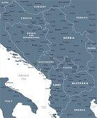 Central Balkan map - Blue Spot - curves 10