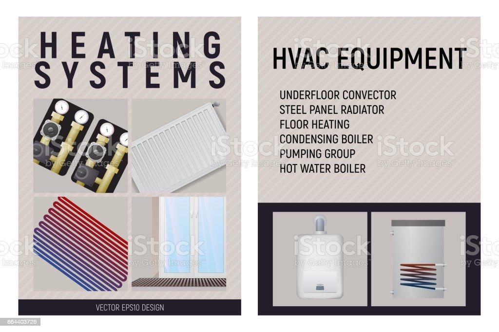 Central Heating System Design Vector Illustration Stock Vector Art ...