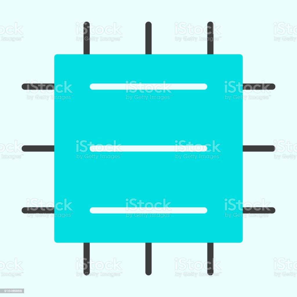 Central Processor Unit Icon Cpu Vector Simple Minimal 96x96 ...