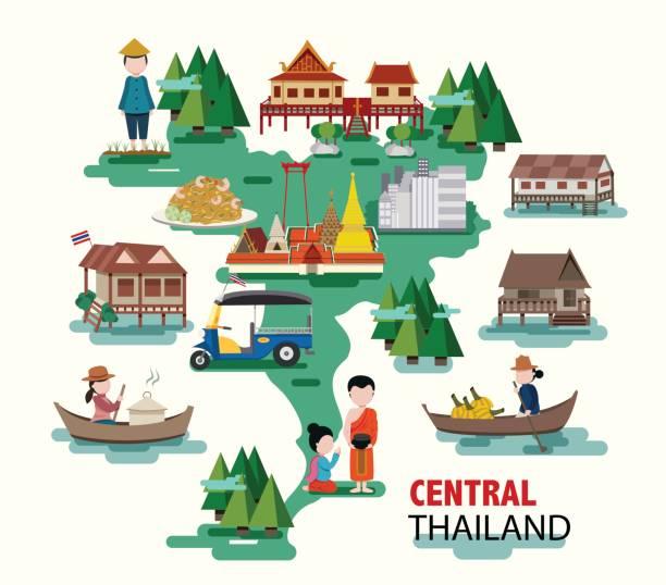 zentral-thailand - ayutthaya stock-grafiken, -clipart, -cartoons und -symbole