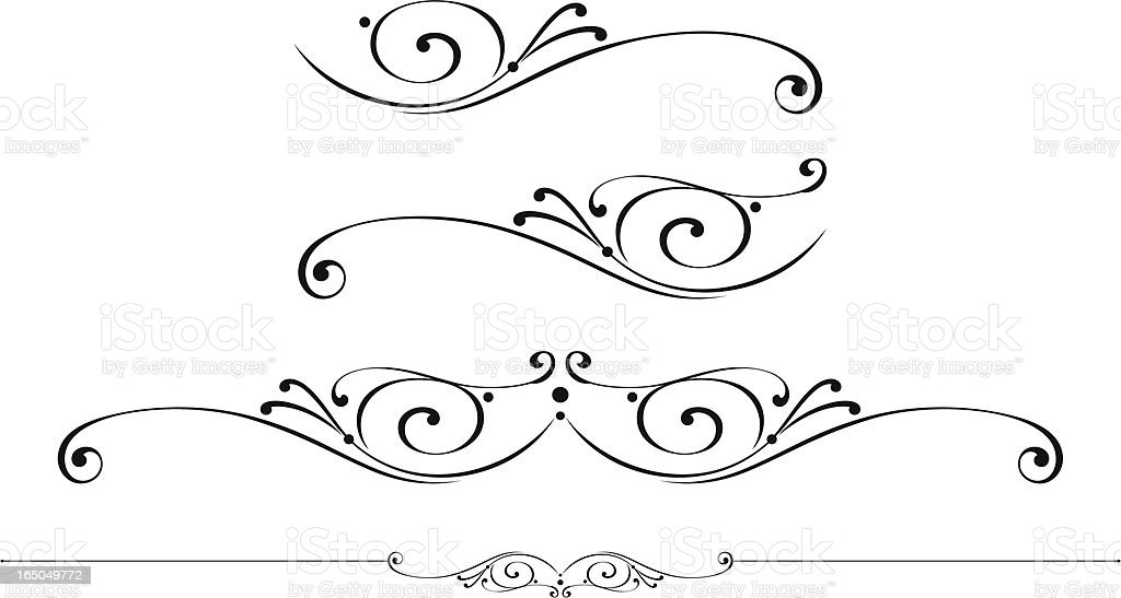 Centre Scroll and rulelines vector art illustration
