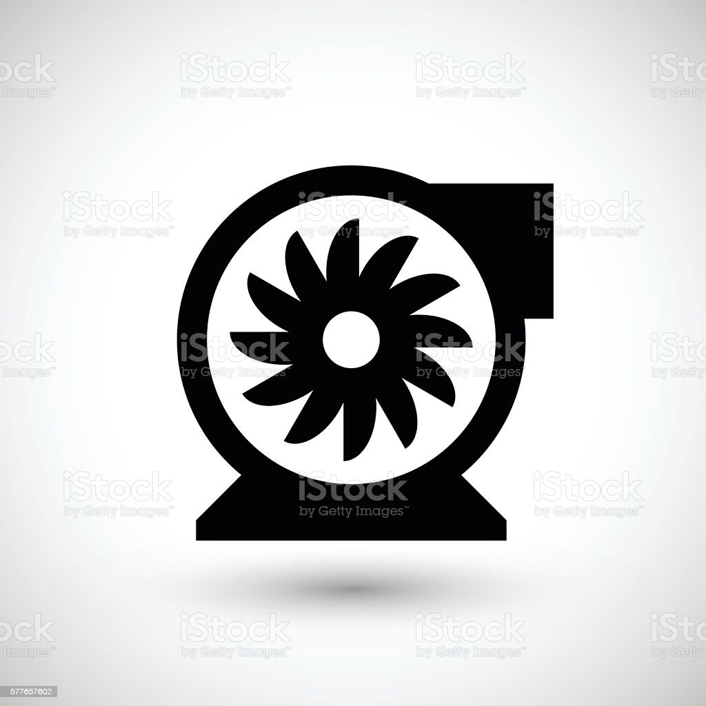Centrifugal fan icon vector art illustration