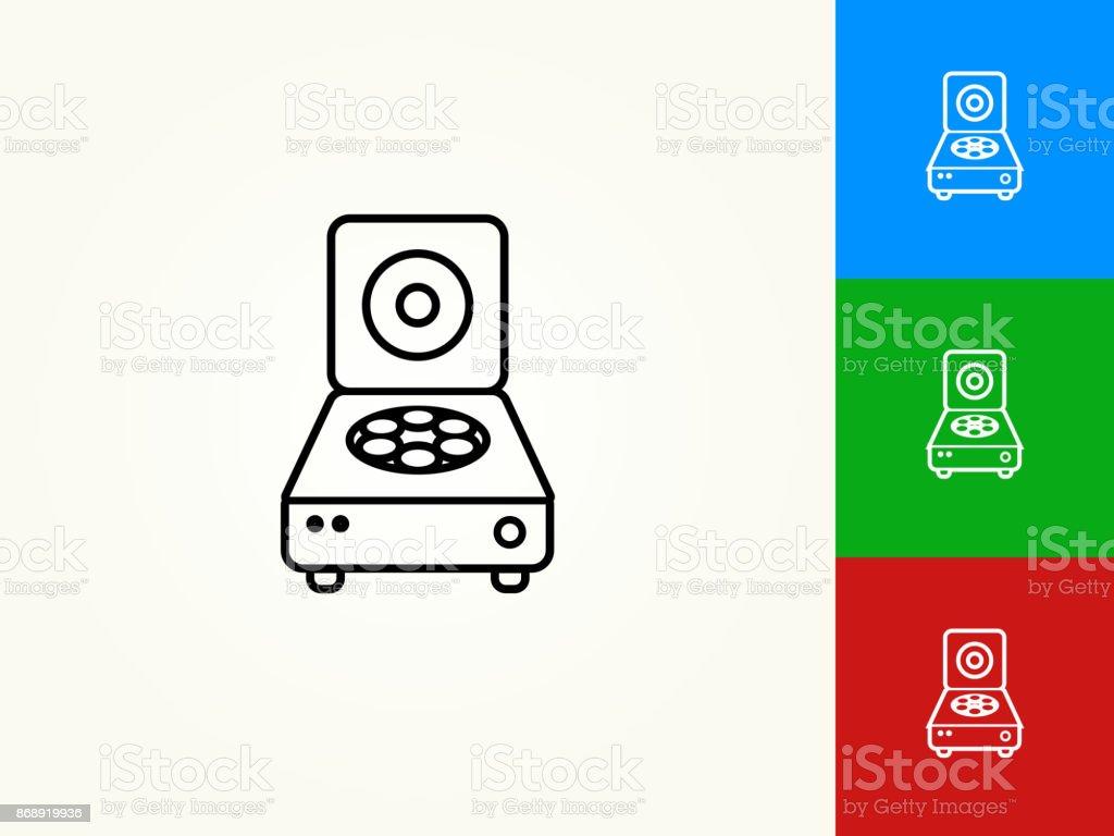 Centrifuge Black Stroke Linear Icon vector art illustration