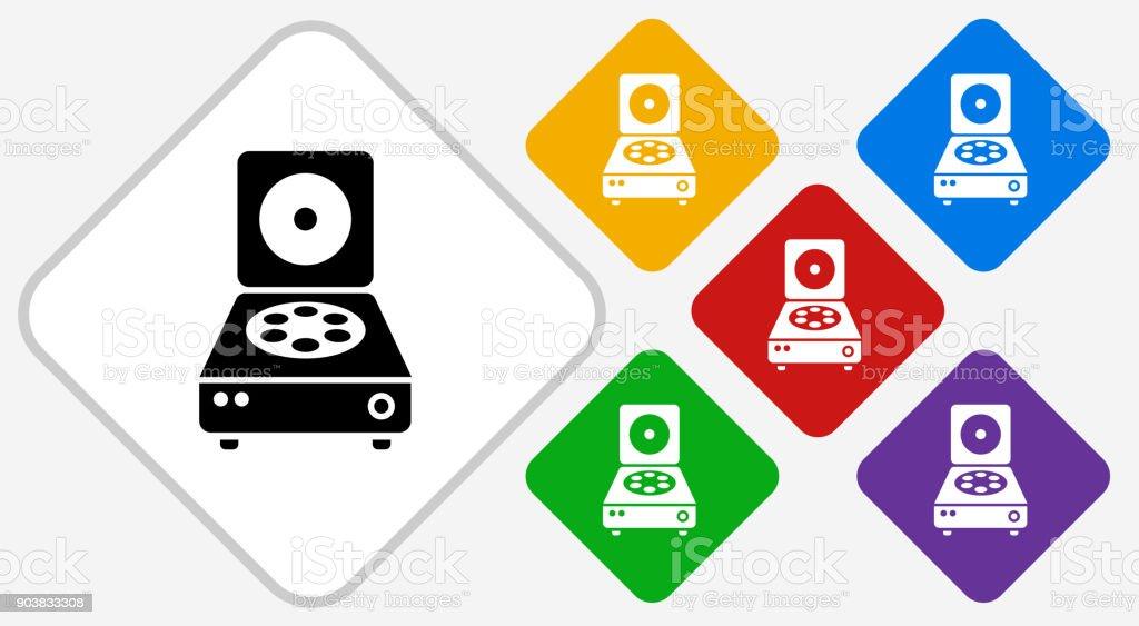 Centrifuge Color Diamond Vector Icon vector art illustration