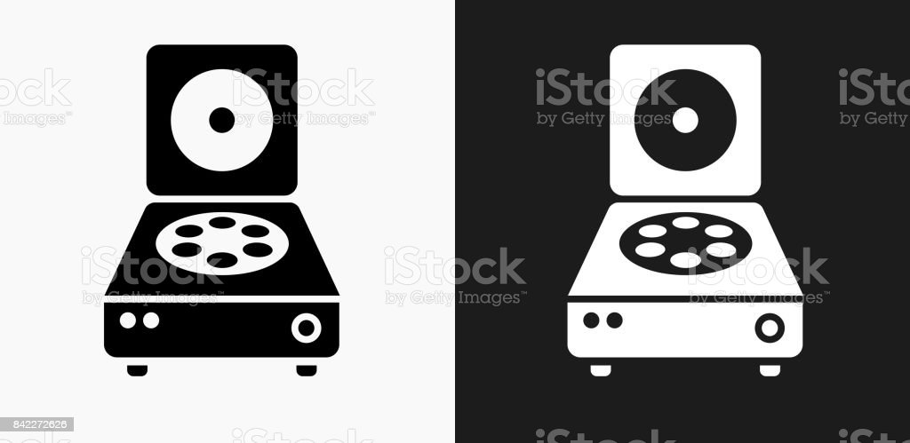 Centrifuge Icon on Black and White Vector Backgrounds vector art illustration