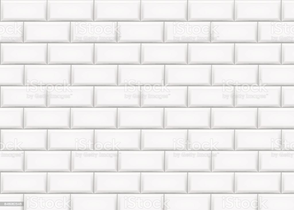 Mur de briques en céramique de tuile. Illustration vectorielle. - clipart vectoriel de Abstrait libre de droits