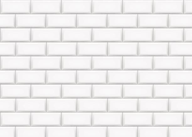 illustrations, cliparts, dessins animés et icônes de mur de briques en céramique de tuile. illustration vectorielle. - métro