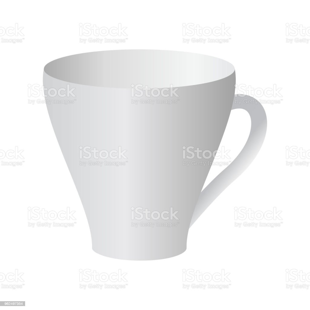 ceramic cup vector - Royalty-free Blank stock vector
