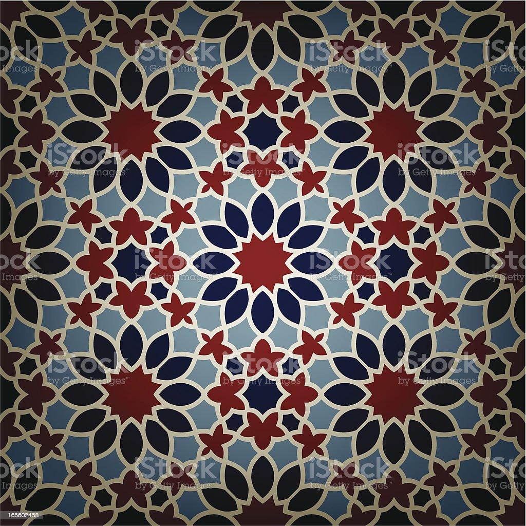 Ceramic Flower Islamic tile royalty-free stock vector art