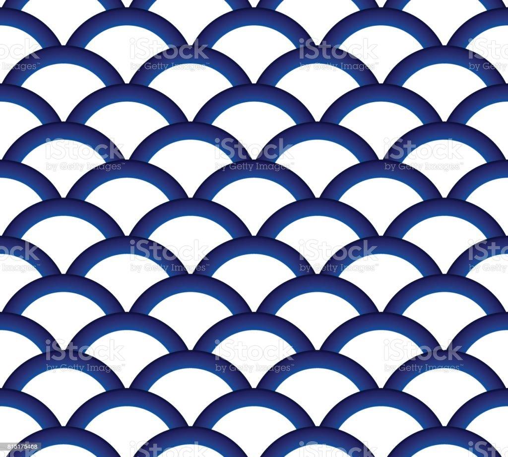 ceramic pattern seamless vector art illustration