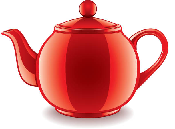 Ceramic teapot isolated on white vector Ceramic teapot isolated on white photo-realistic vector illustration teapot stock illustrations