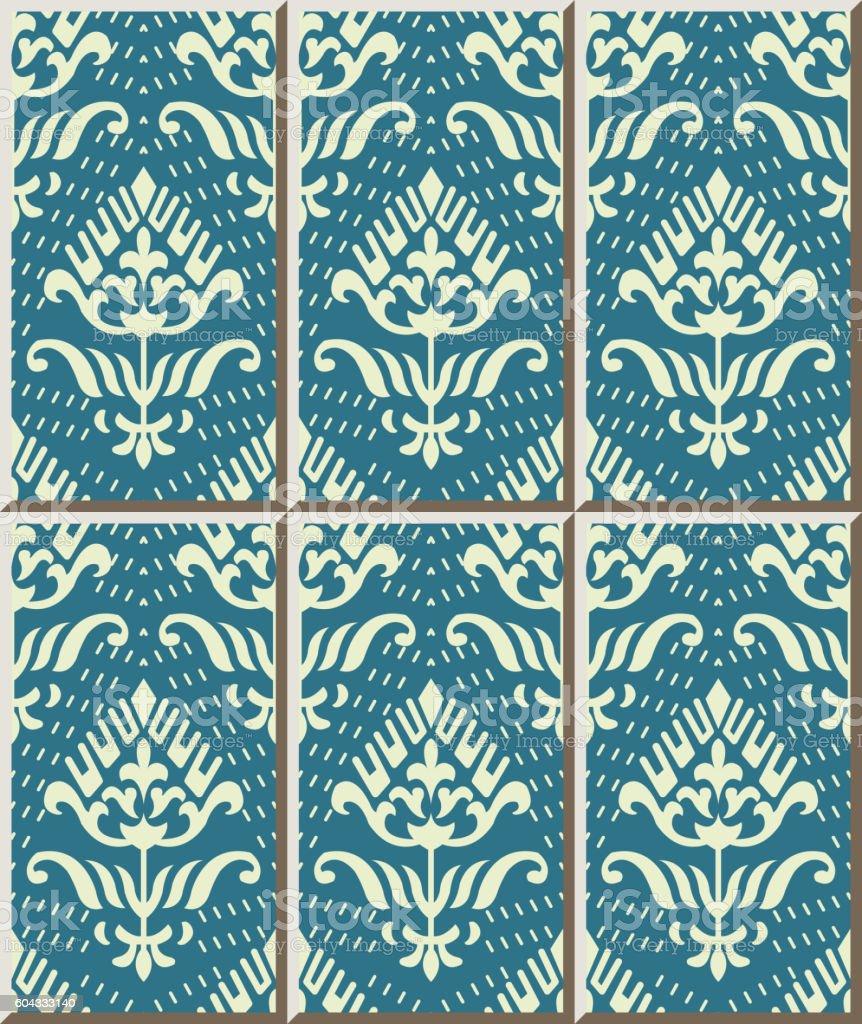 Ceramic Tile Pattern 449 Dot Line Curve Garden Flower Stock Vector ...