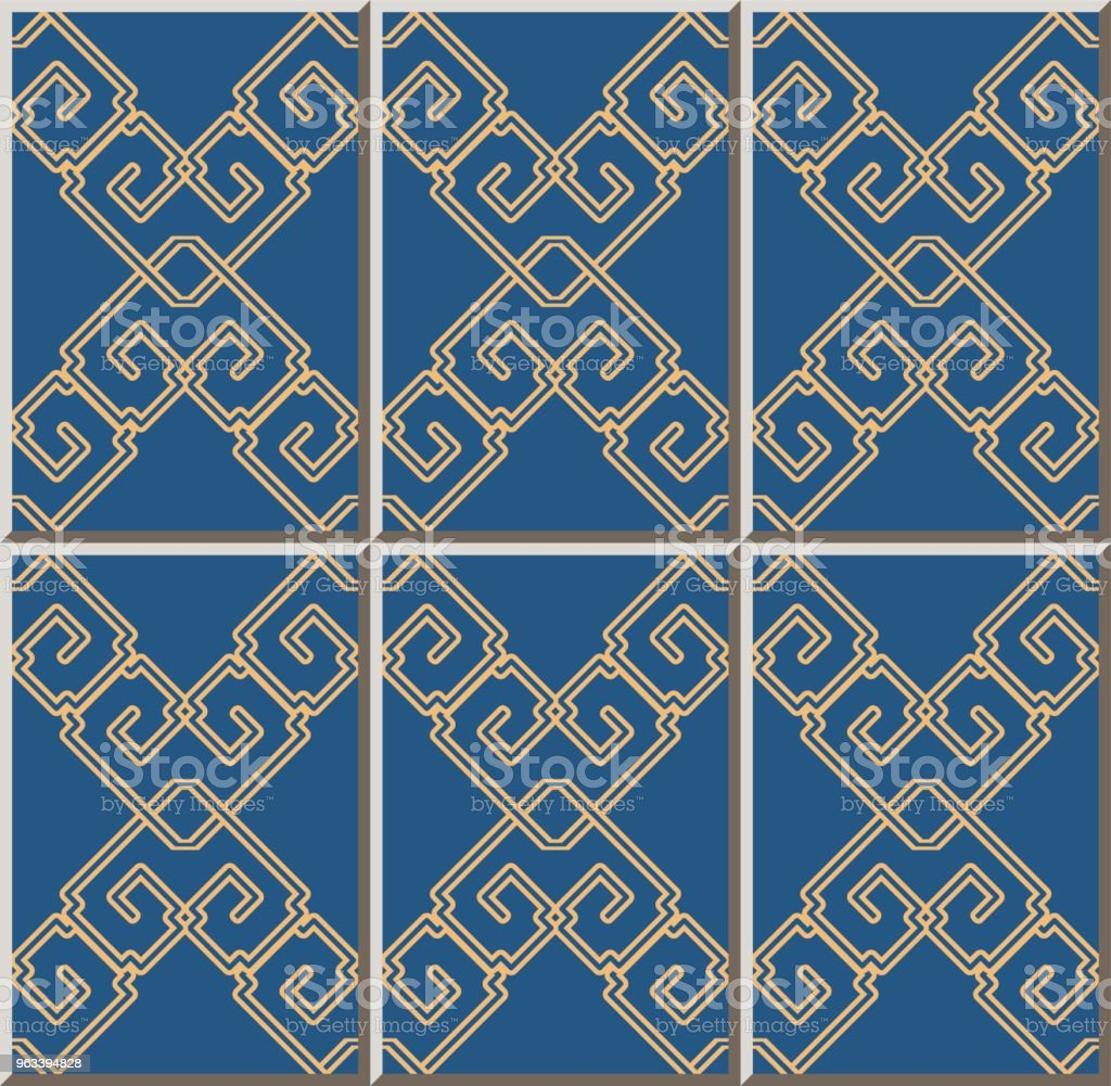 Ceramic Tile Pattern Check Square Cross Frame Chain Line Stock ...