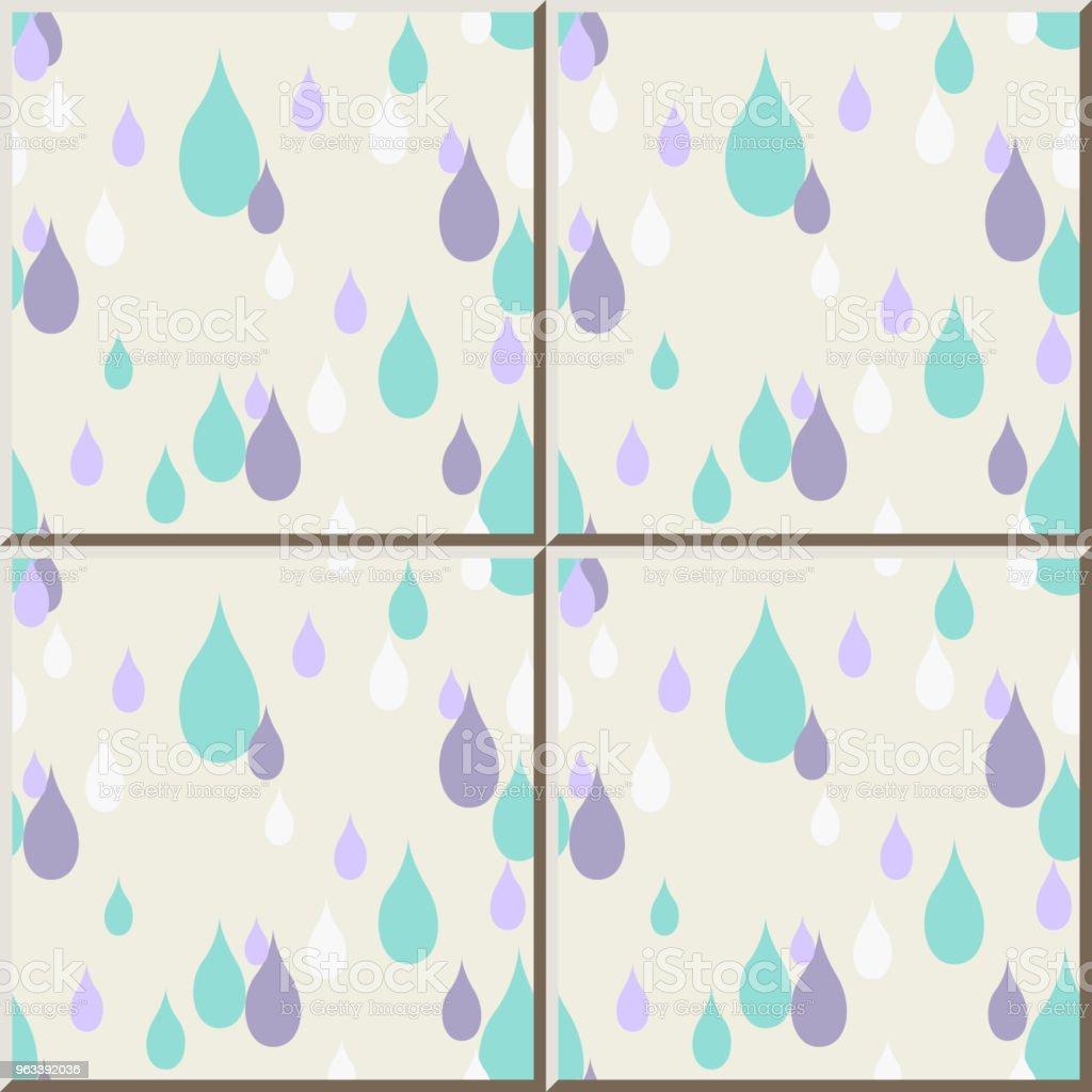 Ceramiczny wzór płytek pastelowy elegancki kolorowy kształt kropli wody - Grafika wektorowa royalty-free (Antyczny)
