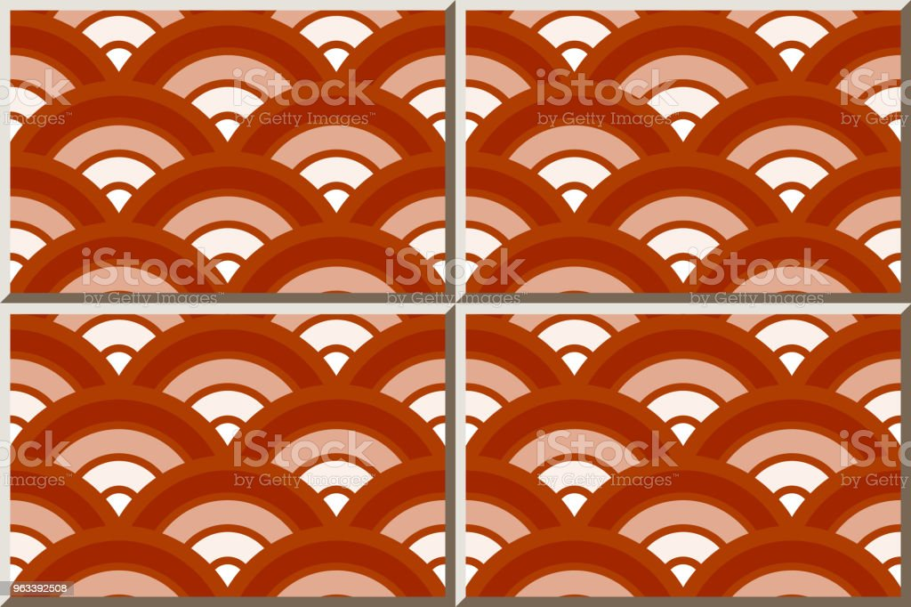 Ceramic Tile Pattern Round Curve Cross Scale Red Gradient Stock Illustration Download Image Now Istock