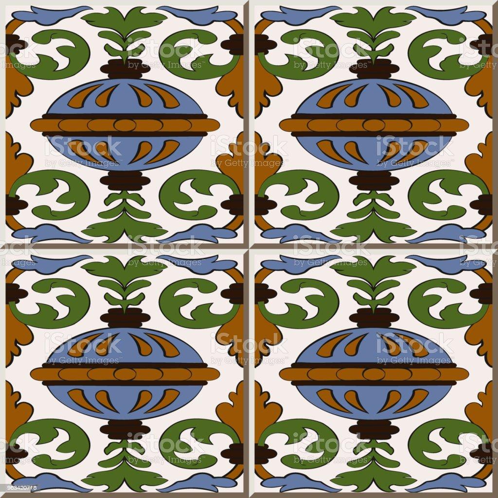 Ceramic Tile Pattern Spiral Cross Leaf Vine Round Decoration Ball ...