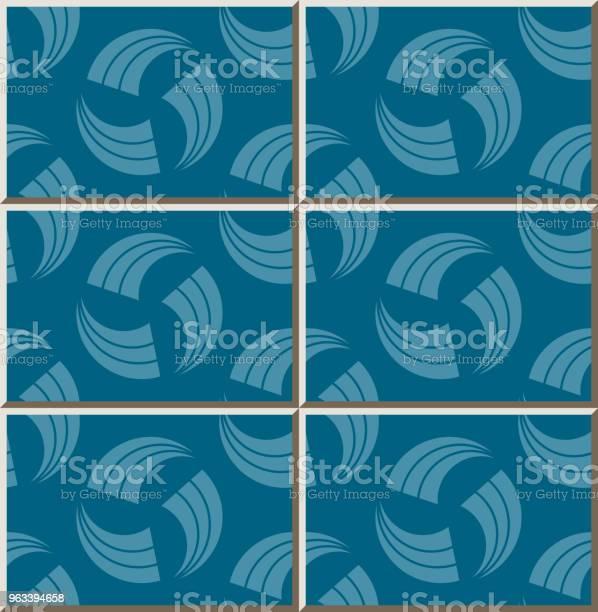 Ceramiczny Wzór Płytki Spiralny Wir Okrągły Poprzeczny Linii Obrysu - Stockowe grafiki wektorowe i więcej obrazów Antyczny