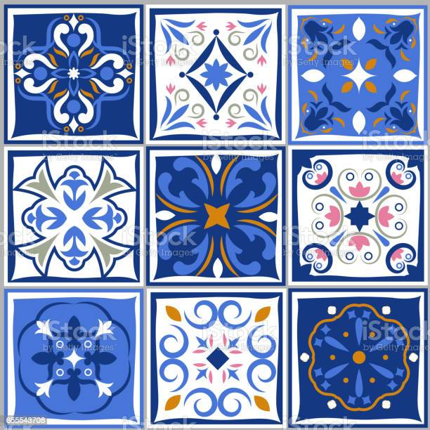 Ceramic tiles vintage patterns vector spanish style architecture blue vector id655543708?b=1&k=6&m=655543708&s=612x612&h=wyefbwpwmuyd05ztsyqnx 3qssytmnooi6bsnn4ajsk=