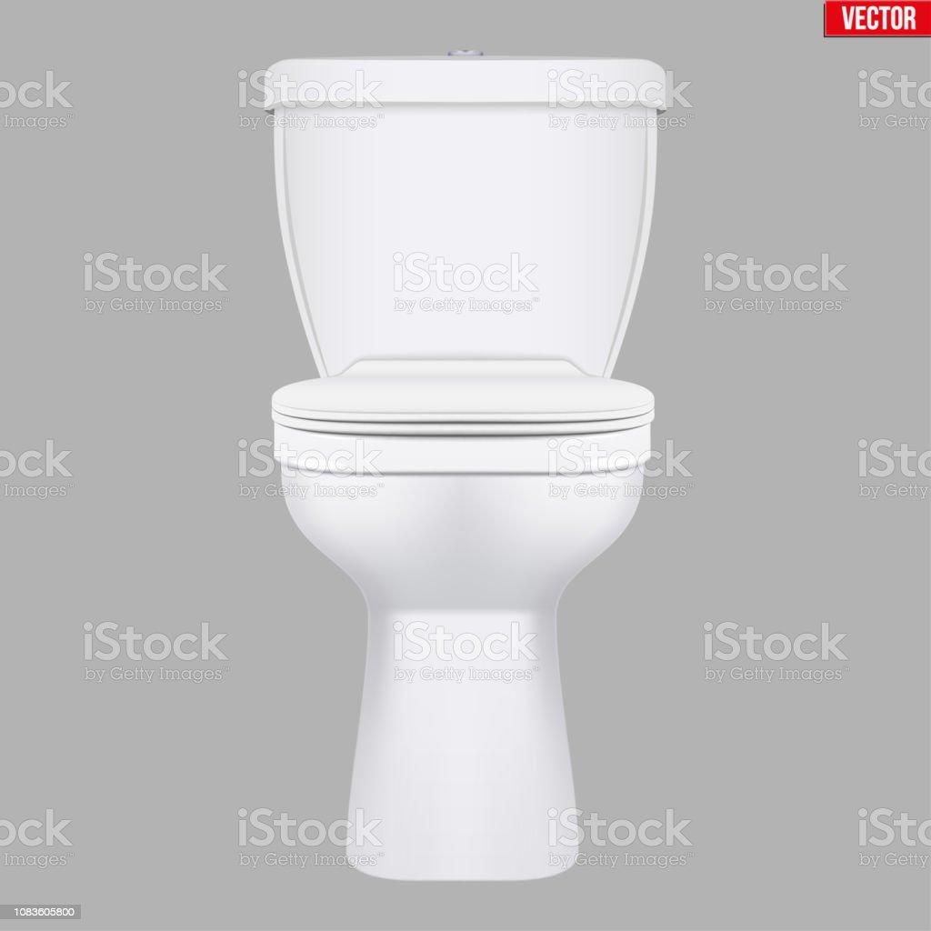 Modèle Classique De Toilette En Céramique Vecteurs libres de droits et plus  d\'images vectorielles de Admirer le paysage