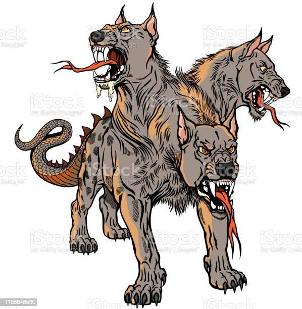 Cerberus hellhound tattoo vector id1188848590?b=1&k=6&m=1188848590&s=612x612&h=rj driy7aqpxhk6oxek6whvoyszzebh9evqrnlovt48=